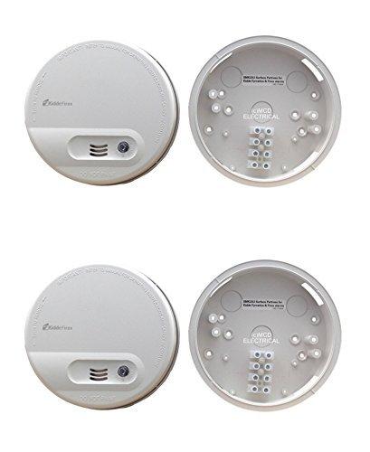 Set de 2 x Kidde KF10 – Detector de humo (conexión a red/copia