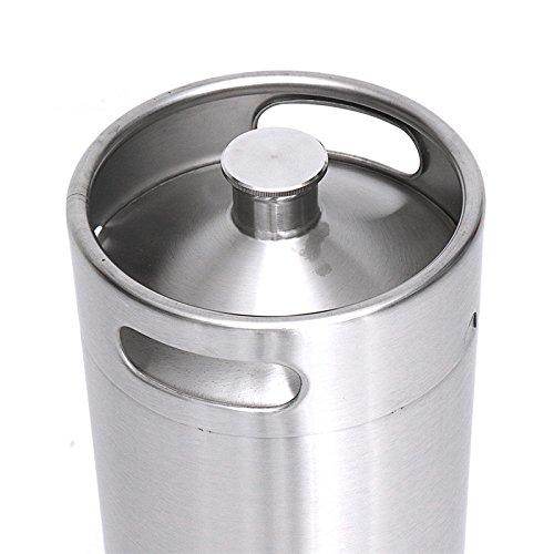 Stainless Steel Brew Barrel, SENREAL 10L Stainless Steel Cast Growler Barrel Beer Wine Making Tools Accessories by SENREAL (Image #2)