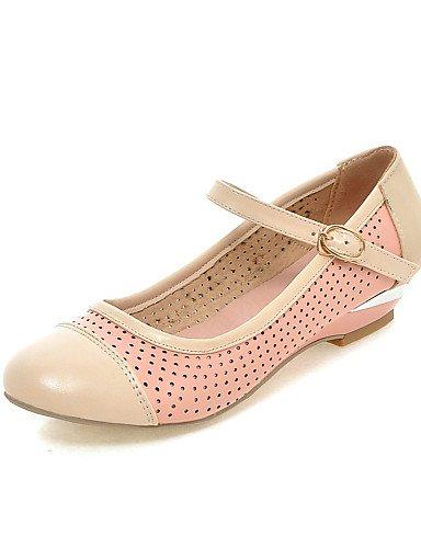 ZQ Zapatos de mujer - Tacón Cuña - Cuñas - Mocasines - Casual - Semicuero - Azul / Rosa / Blanco , pink-us8.5 / eu39 / uk6.5 / cn40 , pink-us8.5 / eu39 / uk6.5 / cn40 pink-us8 / eu39 / uk6 / cn39
