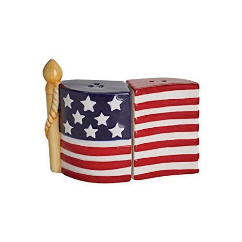 Pfaltzgraff American Flag Salt and Pepper Set