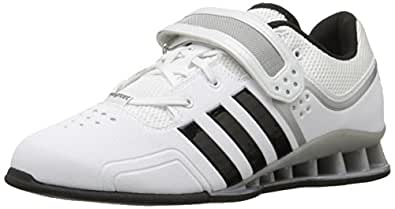 adidas Performance Adipower Weightlifting Trainer Shoe,White/Black/Tech Grey,5 M US