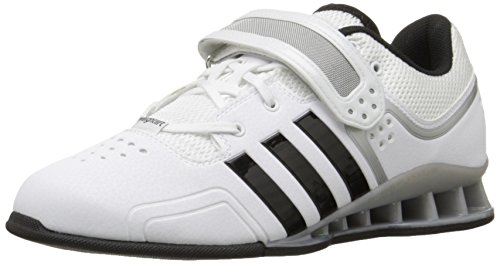 adidas Performance Adipower Weightlifting Trainer Shoe,White/Black/Tech Grey,10.5 M US