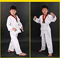 dududrz Dobok Taekwondo Adulto V Cuello Traje De Taekwondo Algodón ...