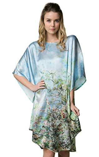 iF Silk, 100% Pure Silk nightgowns Batwing Sleeved Classic Nightwear Sleepwear Pajama perfect
