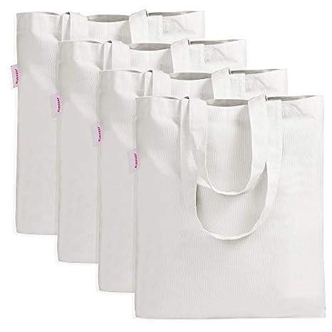 Amazon.com: Dimayar - Bolsa de lona para la compra, 4 ...