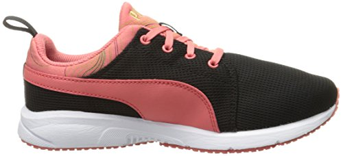 Puma Carson Runner Marble Kids Sneaker (Little Kid/Big Kid) Puma Black/Porcelain Rose