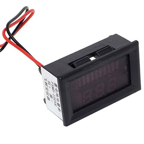 Led Voltage Indicator - Maxmoral 1pc 12V 24V 36V 48V 60V Battery Capacity Indicator Voltage Meter for Electrombile eBike Battery Capacity and Voltage Double LED Display