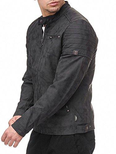 En Cuir Homme Pu Vintage Dk Moto Grey Indicode Manuel Jacket Blouson Veste gxtXdgAq
