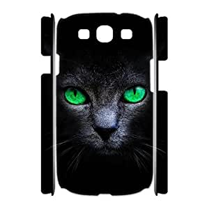 Personalized New Print Case for Samsung Galaxy S3 I9300 3D, Black Cat Phone Case - HL-R636715