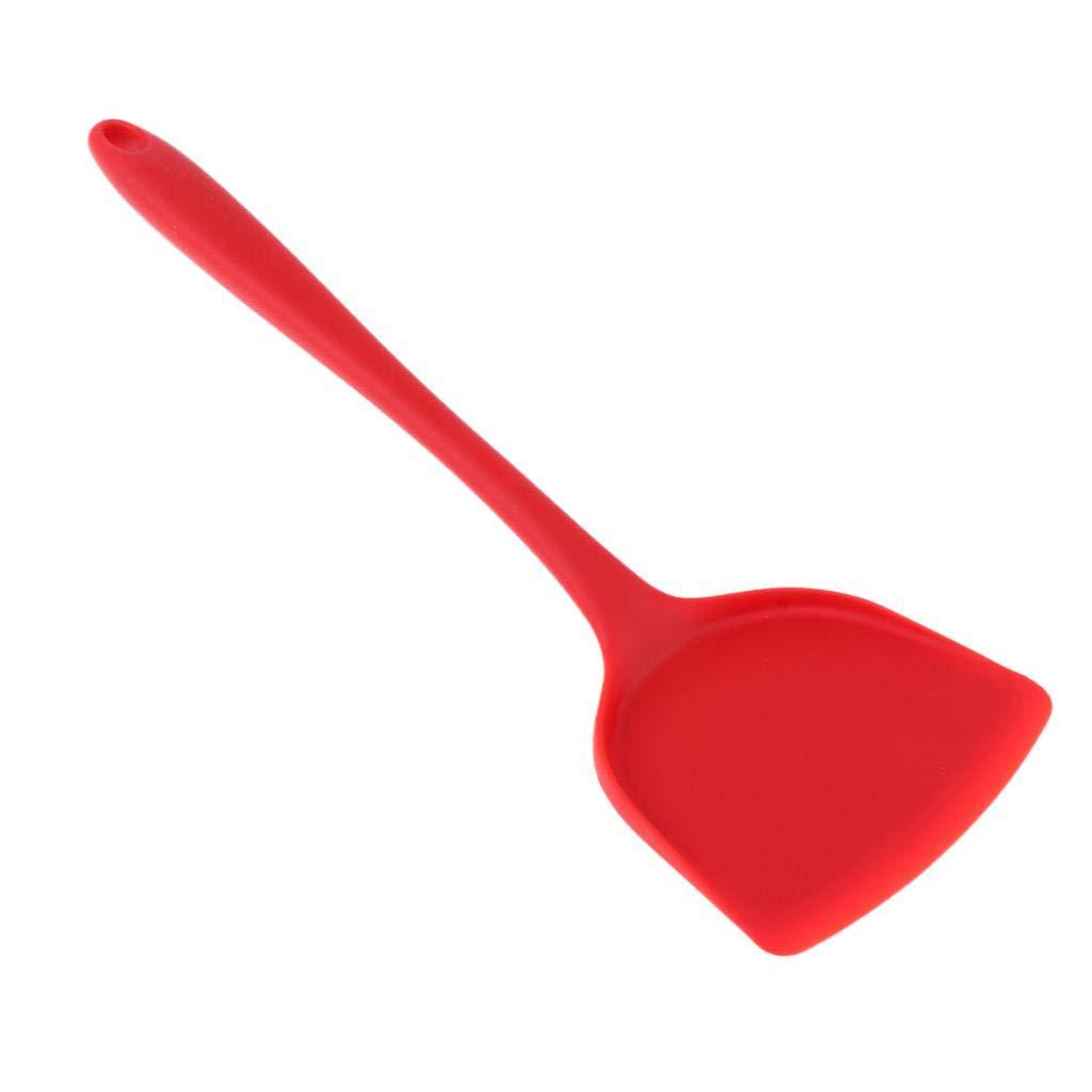 Teigspachtel aus Silikon f/ür Picknick perfk Bratenwender Teigschaber rot Pfannenwender K/üchenspatel