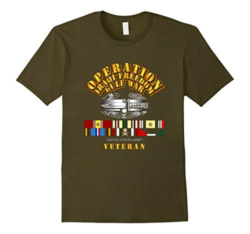 Mens Operation Iraqi Freedom Gulf War Veteran Tshirt XL Olive