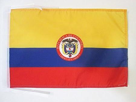 Amazon.com: Bandera de Colombia Escudo de armas 18
