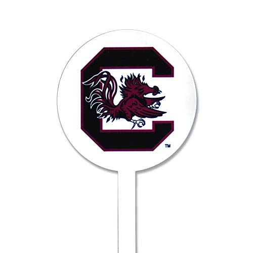 (Authentic Street Signs Spring Steel Garden Stakes (South Carolina Gamecocks- White))