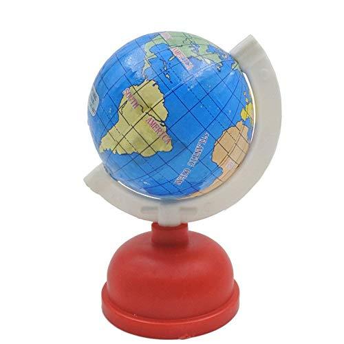 Desktop 1Pc Globe Shape Single Hole Pencil Sharpener School Stationery(Red)