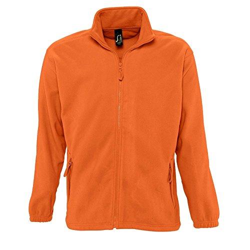 caballero SOLS forro Chaqueta Naranja completa North cremallera hombre Modelo polar 8qC7nH5q