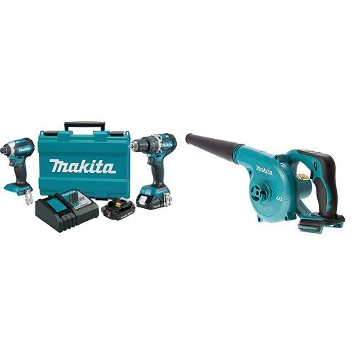 Makita XT269R 2 Amp 18V Compact LXT Lithium-Ion Brushless Cordless Combo Kit (2 Piece) with DUB182Z 18V LXT Lithium-Ion Cordless Blower (Bare Tool Only)