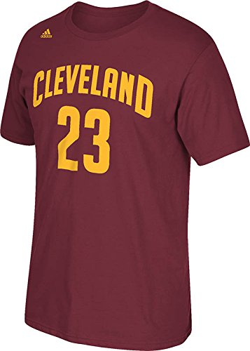 adidas Lebron James Cleveland Cavaliers Burgundy Jersey Name and Number  T-shirt (Small) 27ff71266