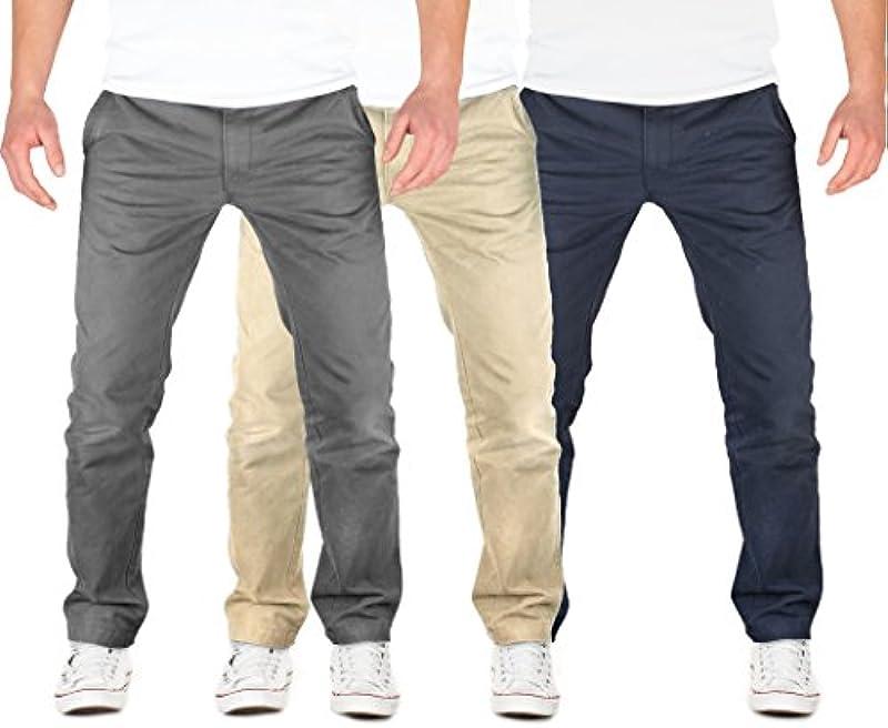Grin&Bear Fitted Bawełna Chino Spodnie męskie Jeans Spodnie OS20: Odzież