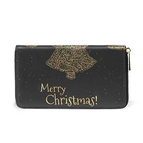 TIZORAX Womens Purses Holiday Merry Around Clutch Organizer Handbags Wallet And Greeting Christmas Design Zip WqBXZrqT