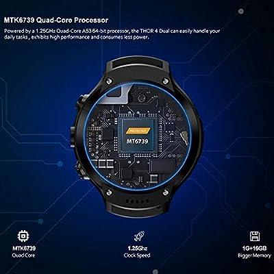 LayOPO Zeblaze Thor 4 Dual Smart Watch, 4G Dual 5.0MP Cámara 1.4 ...