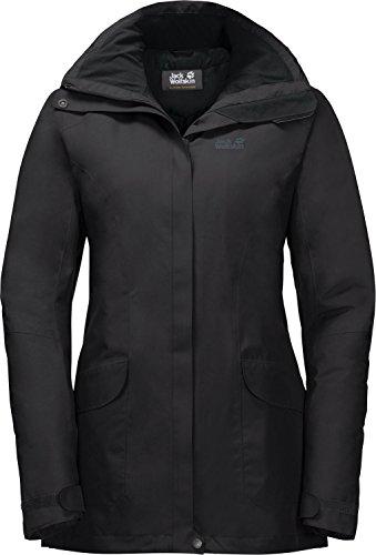 Jack Wolfskin Women's Kiruna Trail Waterproof Insulated Rain Jacket Black
