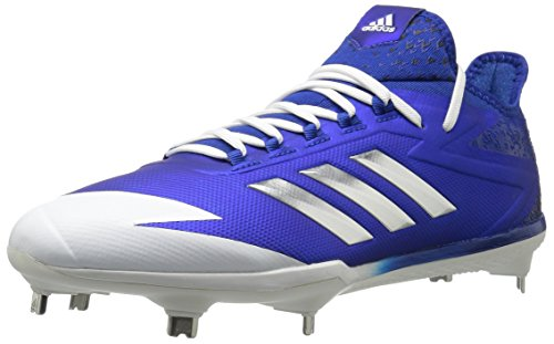 adidas Men's Freak X Carbon Mid Baseball Shoe, Collegiate Royal, Silver Met, FTWR White, 10.5 M US
