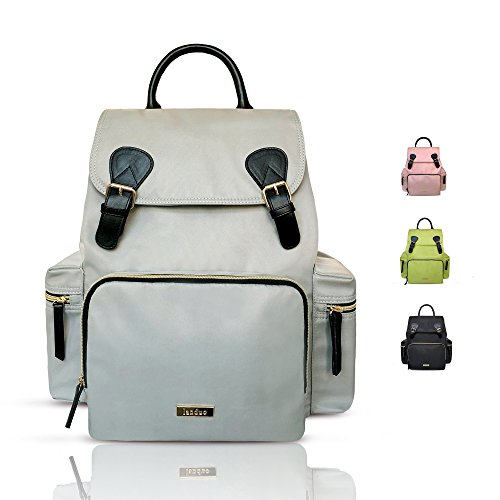 Baby Diaper Backpack – Large Diaper Bag with Insulated Pockets, Stroller Straps and Changing Pad -Birch Bag
