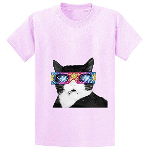 laser-cat-child-crew-neck-graphic-t-shirt-pink
