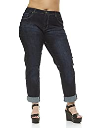 V.I.P.JEANS Womens Tall-Plus-Size Plus Size Jeans Women Mid Rise Skinny Color Options