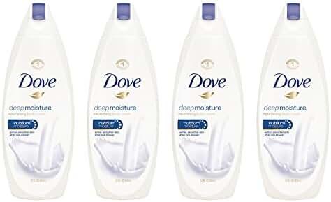 Dove Body Wash, Deep Moisture 22 oz, Pack of 4