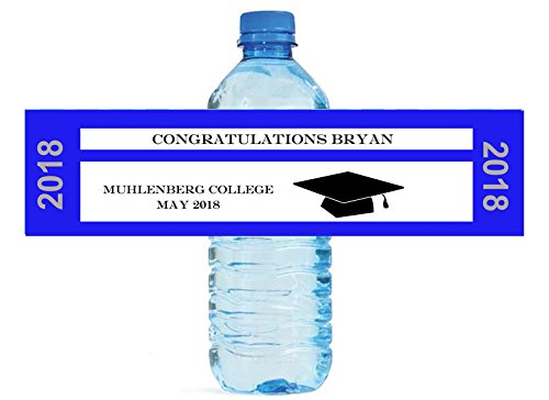 Graduation Ticket Theme Water bottle labels, easy to use, self - Theme Bottle