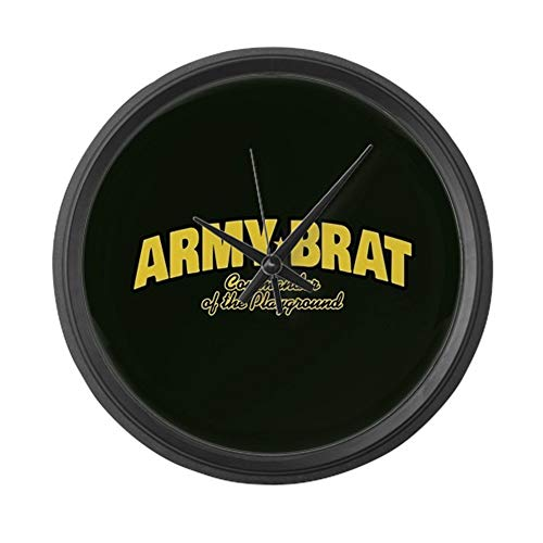 YiiHaanBuy Army Brat - Large10in Round Wall Clock, Unique Decorative Clock.
