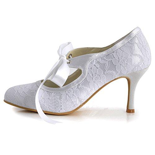 Kevin Fashion ,  Damen Hochzeitsschuhe , Weiß - Weiß - Weiß - Größe: 43 EU