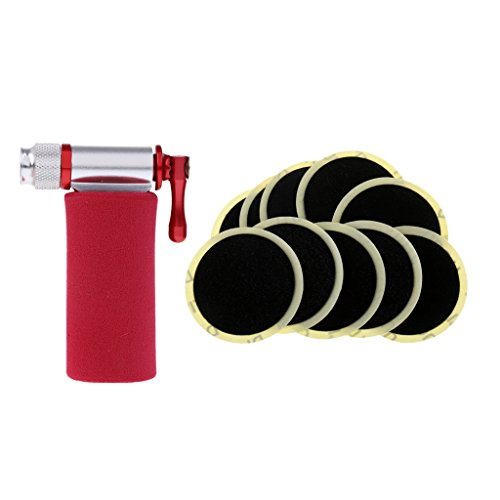 MagiDeal Bike No Need Of Glue Bike Inner Tire Glueless Patch Fast Repair Tools + Bicycle Tire Pump CO2 Inflator Presta Schrader Valve by MagiDeal (Image #4)