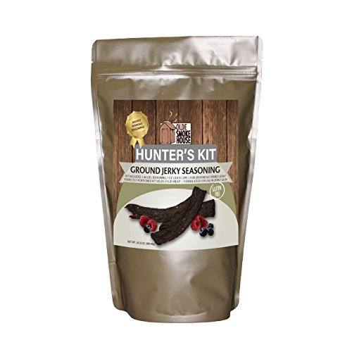 Hunter's Kit (Ground Jerky, 24.32). Kit includes 1.46 lb. Seasoning, 1 oz. Quick Cure. Gluten Free. Excellent for curing or preserving pork, beef and wild game meats. (Curing Kit)