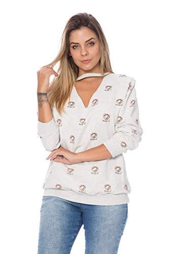 Blusa De Moletom Chocker Unicornio