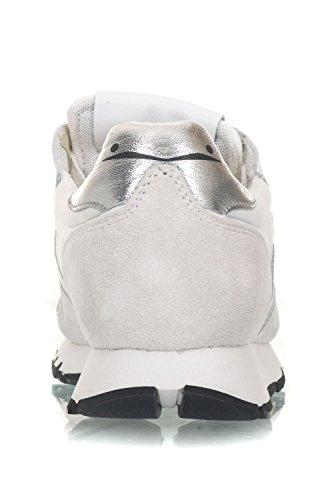 Blanche Voile Piel Bianco Mujer Zapatillas de para Argento Blanco qv7wq4PF