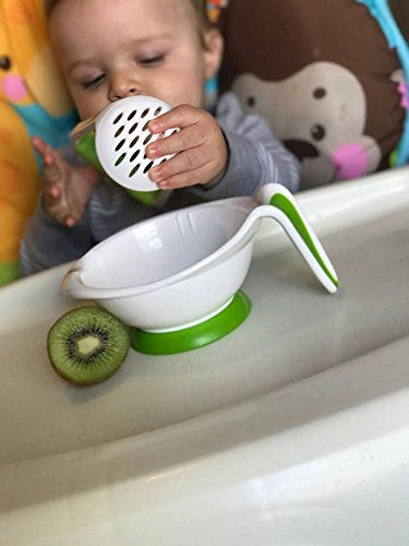 Baby Food Mill Grinding Bowl Grinder Processor Multifunction Mash Prep Serving DIY Homemade 8 in 1 Set by Kolamom, Upgrade by Kolamom (Image #7)