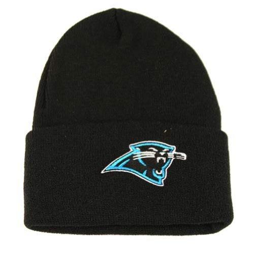 Carolina Panthers Classic Cuffed Knit Hat in Black