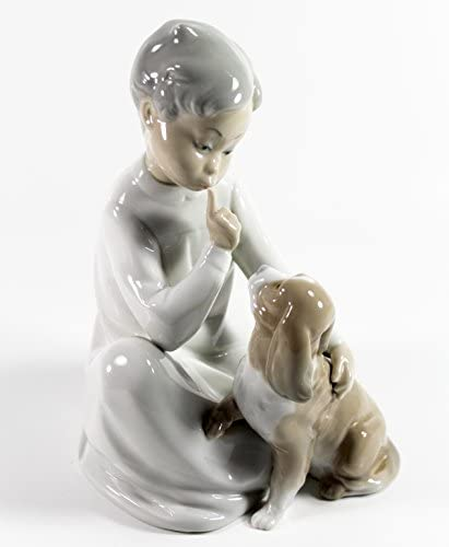 Lladro Collectable Porcelain Figurine D4164 Children with Candlestick