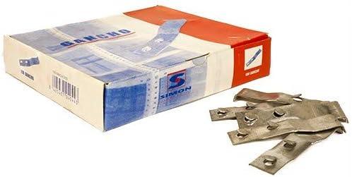 Simonrack 90130000031 Caja de 100 clips (acero): Amazon.es: Bricolaje y herramientas