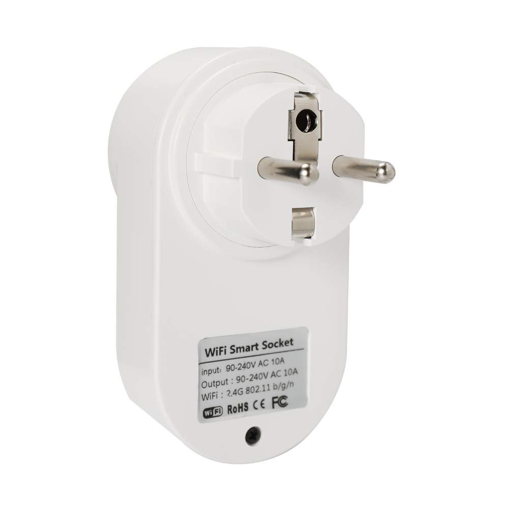 Festnight eWeLink Mini Smart WiFi Socket Control Remoto Enchufe Inteligente Tipo E de la UE por tel/éfono Inteligente Desde Cualquier Lugar Funci/ón temporizaci/ón Control Voz Compatible con