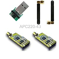 Arduino Compatible APC220 Wireless RF Modules w/ Antennas / USB Converter