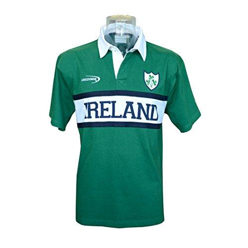 Neues Grün Irland Einsatz S/S Rugby T-Shirt