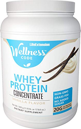 Life Extension New Zealand Whey Protein, Natural Vanilla, 500 Gram -