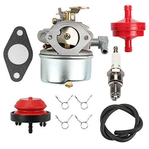 Mannial 640298 Carburetor Carb with Primer Bulb Fuel Filter fit Tecumseh OHSK70 OH195SA Engines 5.5hp 7hp Snowblower Ariens 932036 932504 ST524 Toro 38571 38575 38576 38577 CCR 6053 Snowthrower