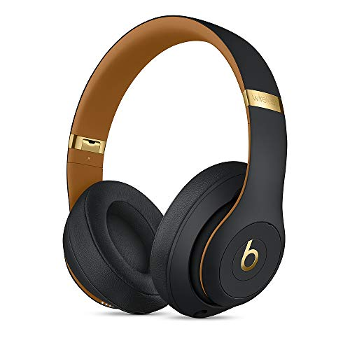 Beats Studio_3 Wireless Headphones The Skyline Collection with Carrying Case (Midnight Black) (Gold Beats Wireless)