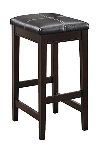 Homelegance Tirel 2-Piece Pack Counter Height Stools, Brown