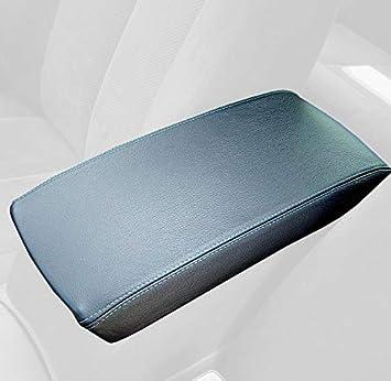 RedlineGoods armrest Cover Compatible with Nissan Altima 2007-12 Black Alcantara-Blue Thread