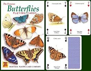 The Famous Butterflies Playing Cards